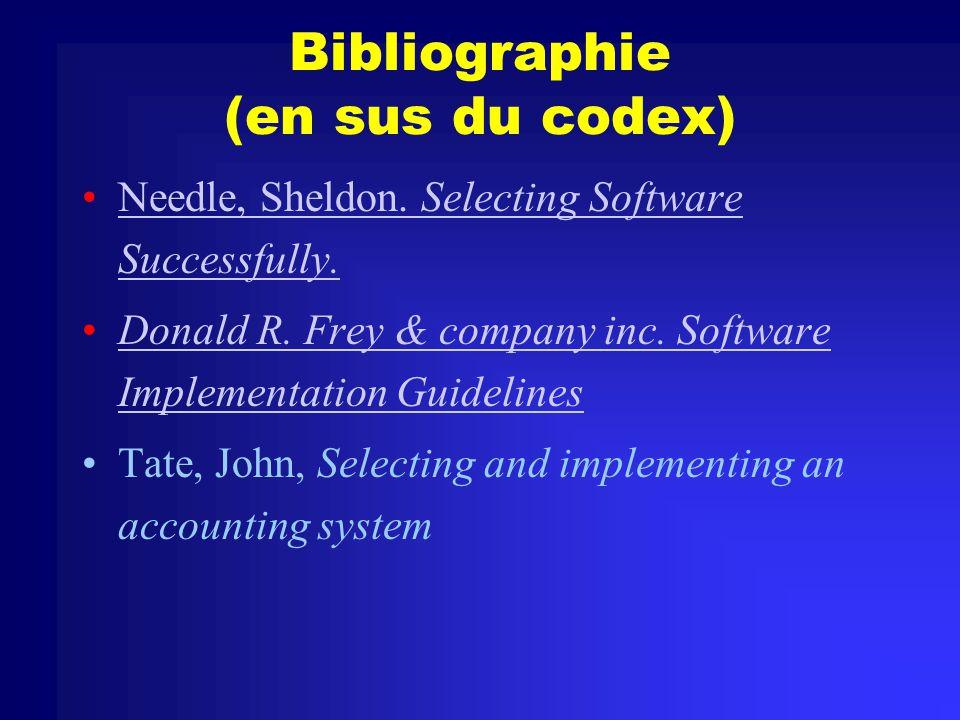Bibliographie (en sus du codex)