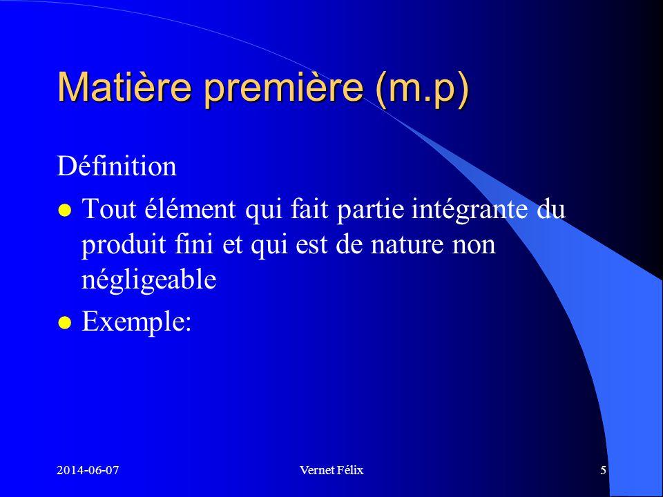 Matière première (m.p) Définition