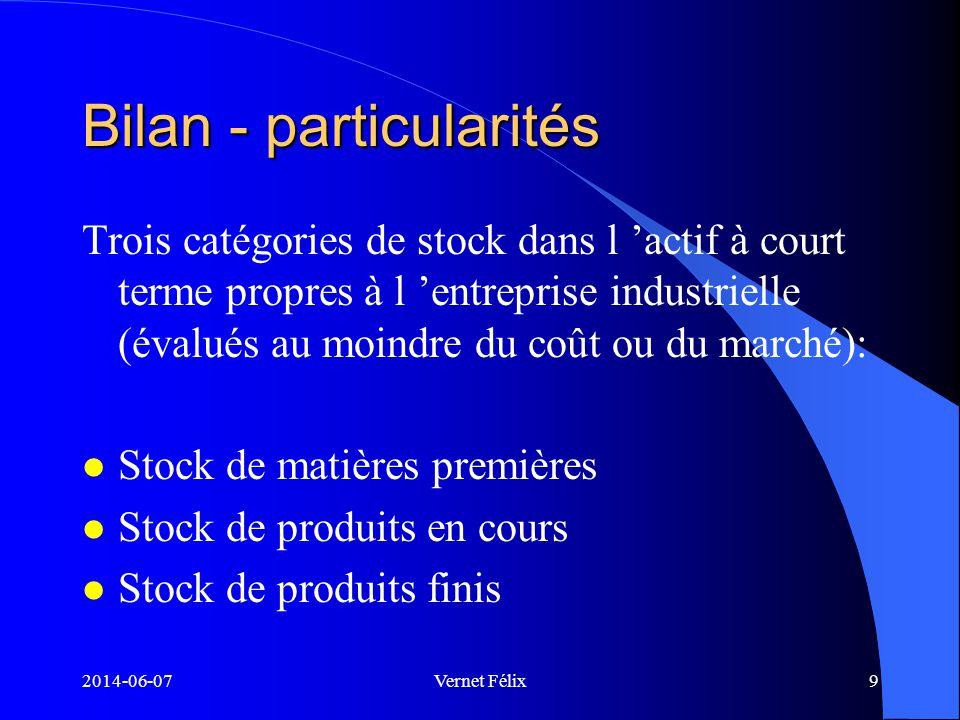 Bilan - particularités