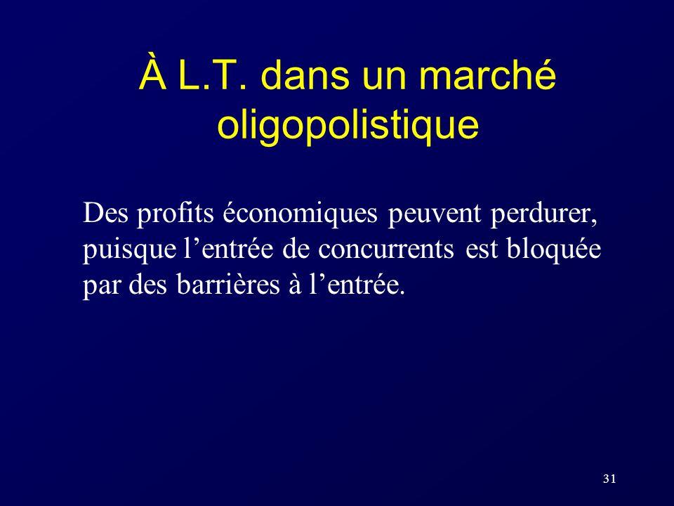 À L.T. dans un marché oligopolistique