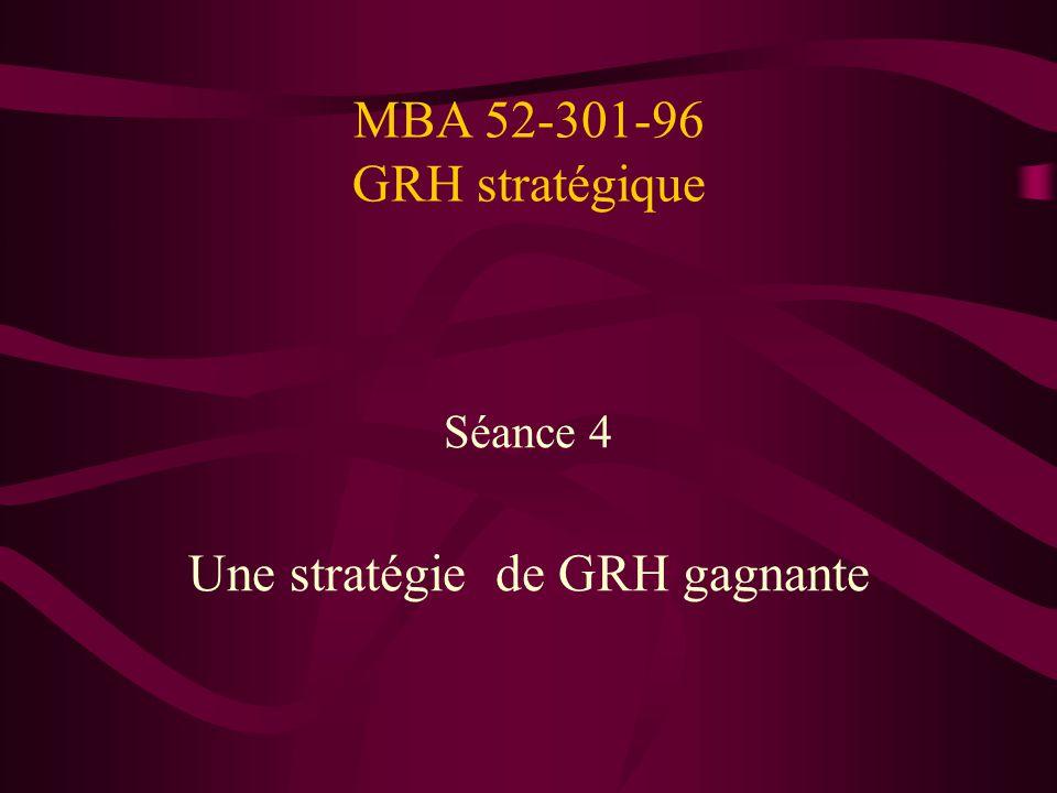 Une stratégie de GRH gagnante
