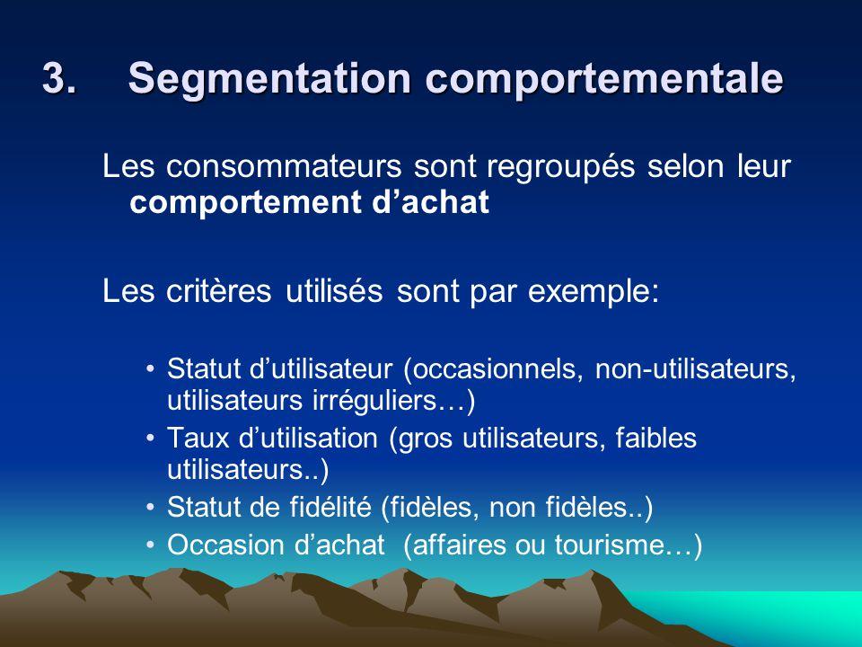 3. Segmentation comportementale