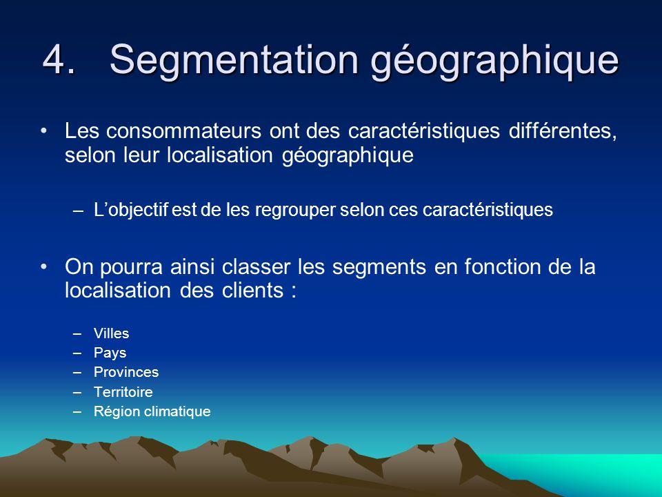4. Segmentation géographique