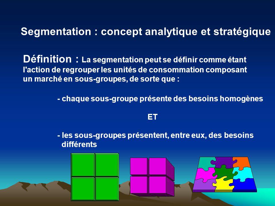Segmentation : concept analytique et stratégique
