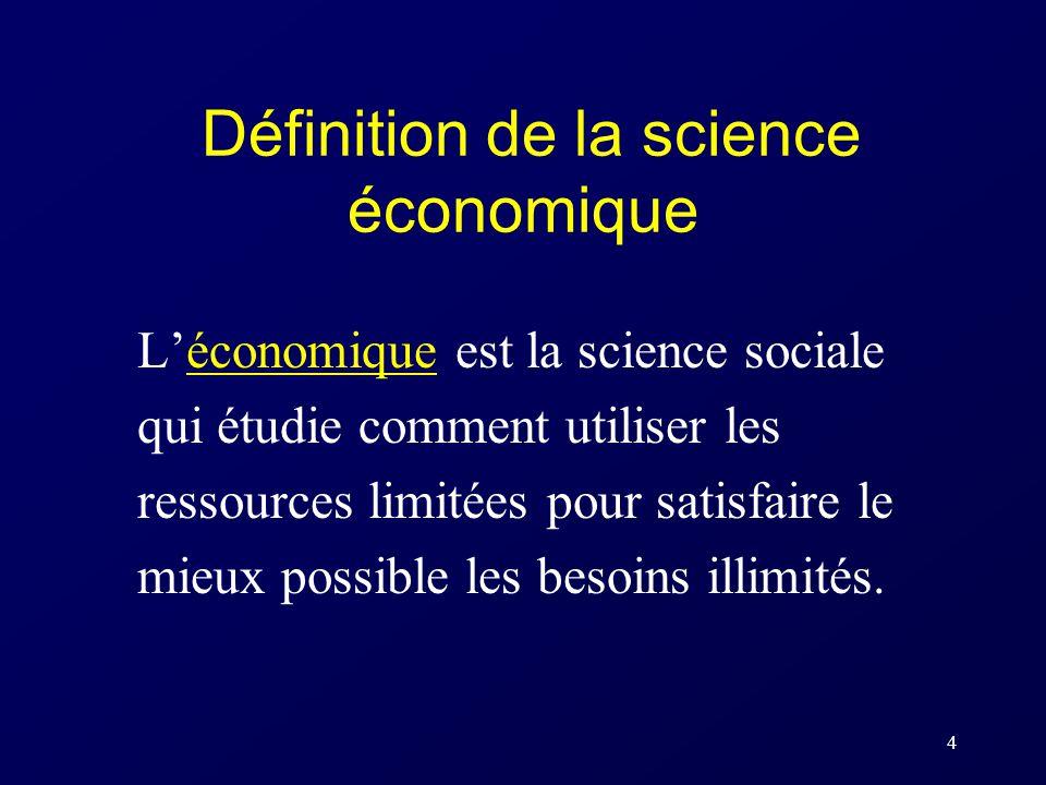 Définition de la science économique