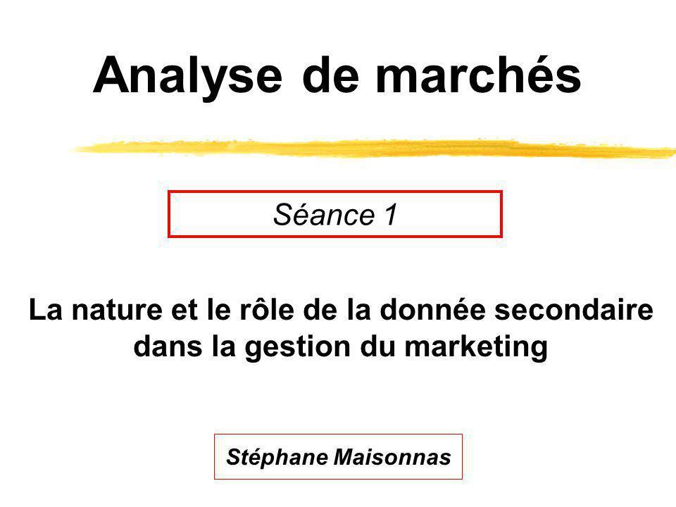 Analyse de marchés Séance 1