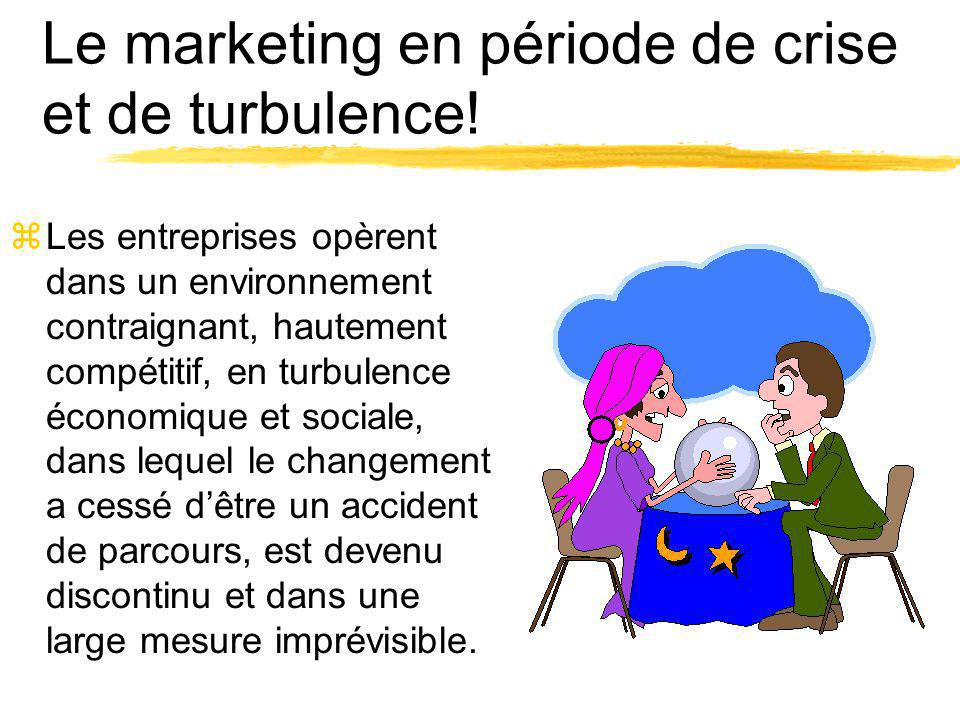 Le marketing en période de crise et de turbulence!