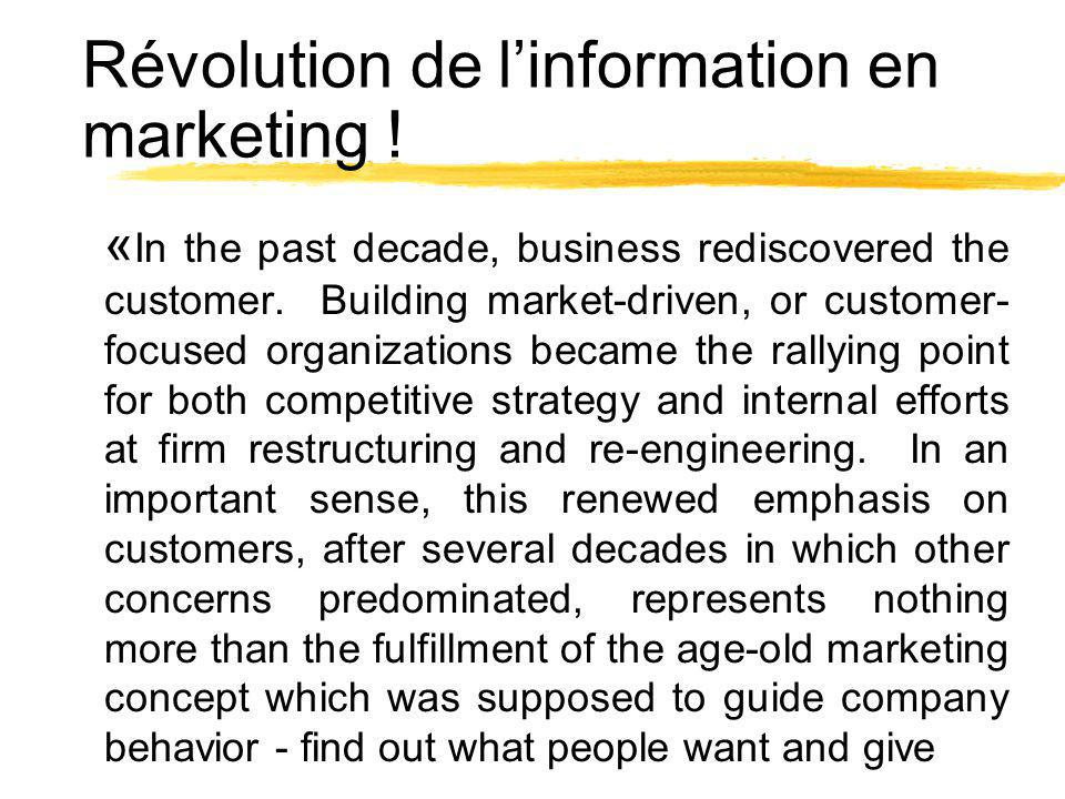 Révolution de l'information en marketing !