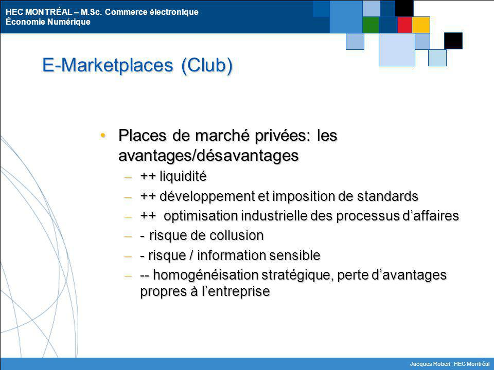 E-Marketplaces (Club)