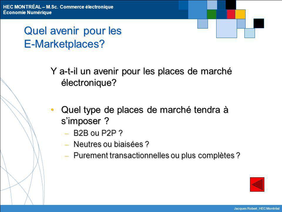 Quel avenir pour les E-Marketplaces
