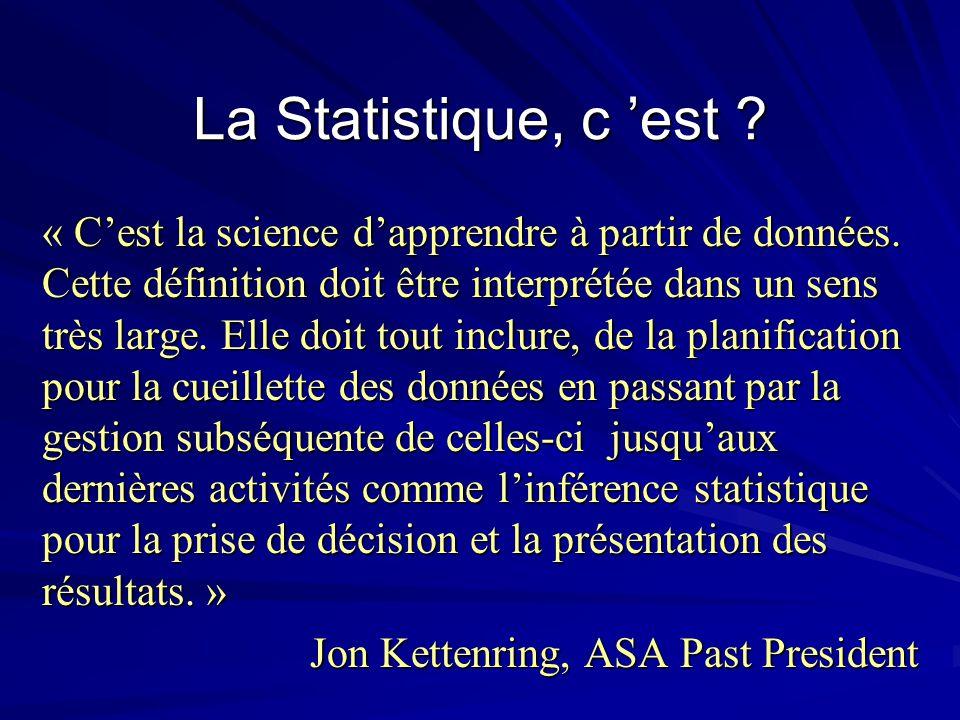 La Statistique, c 'est