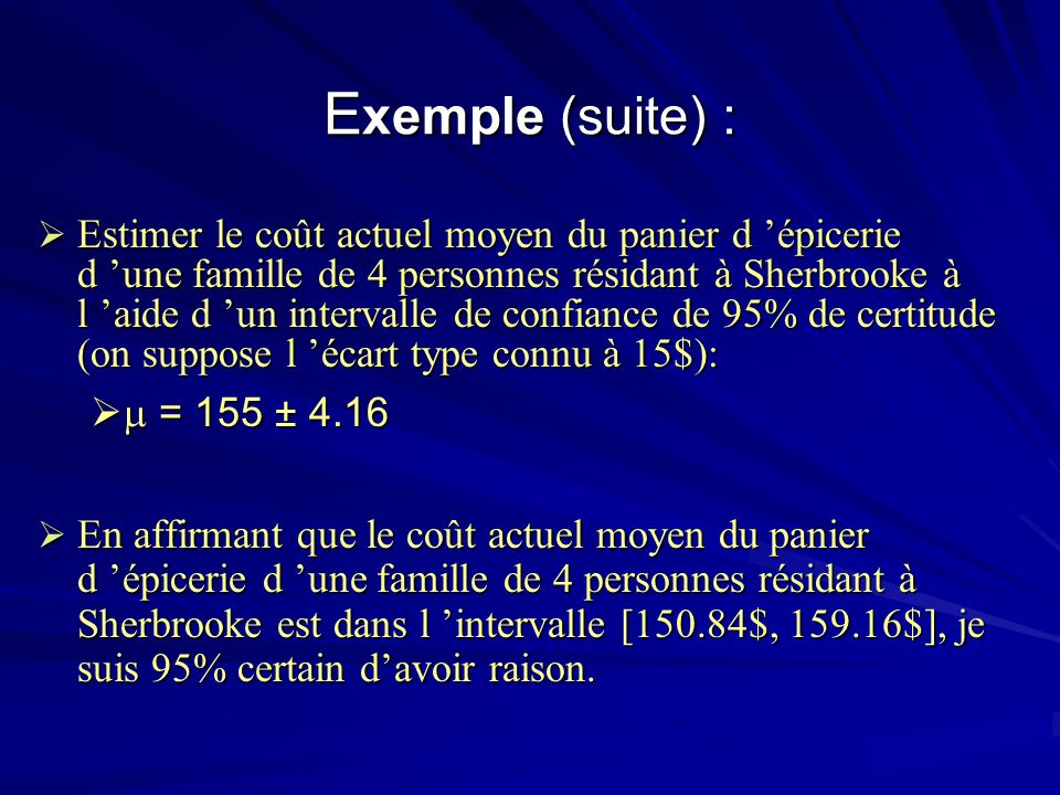 Exemple (suite) :