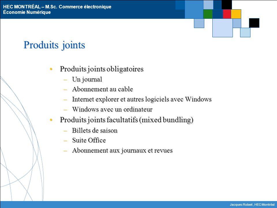 Produits joints Produits joints obligatoires