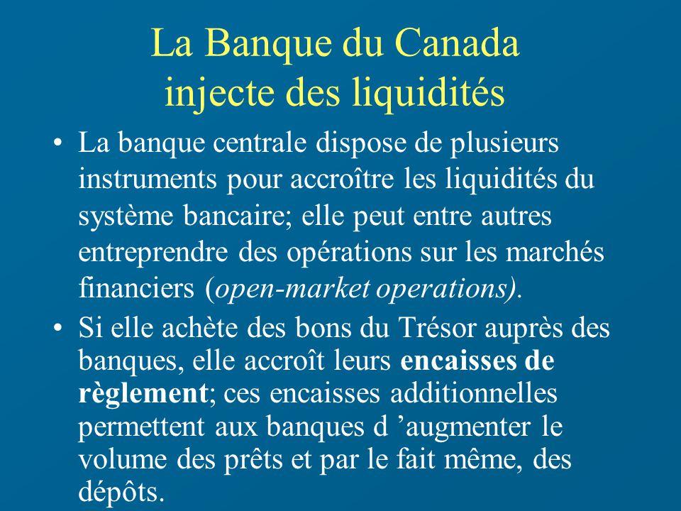 La Banque du Canada injecte des liquidités