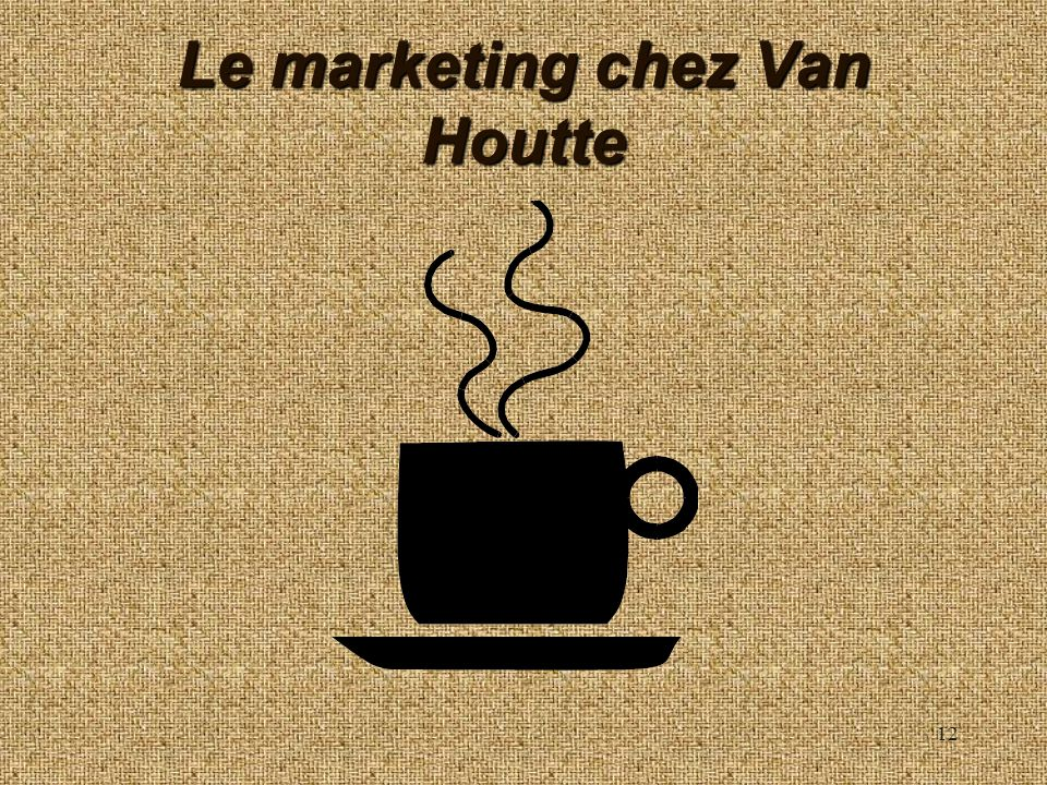 Le marketing chez Van Houtte