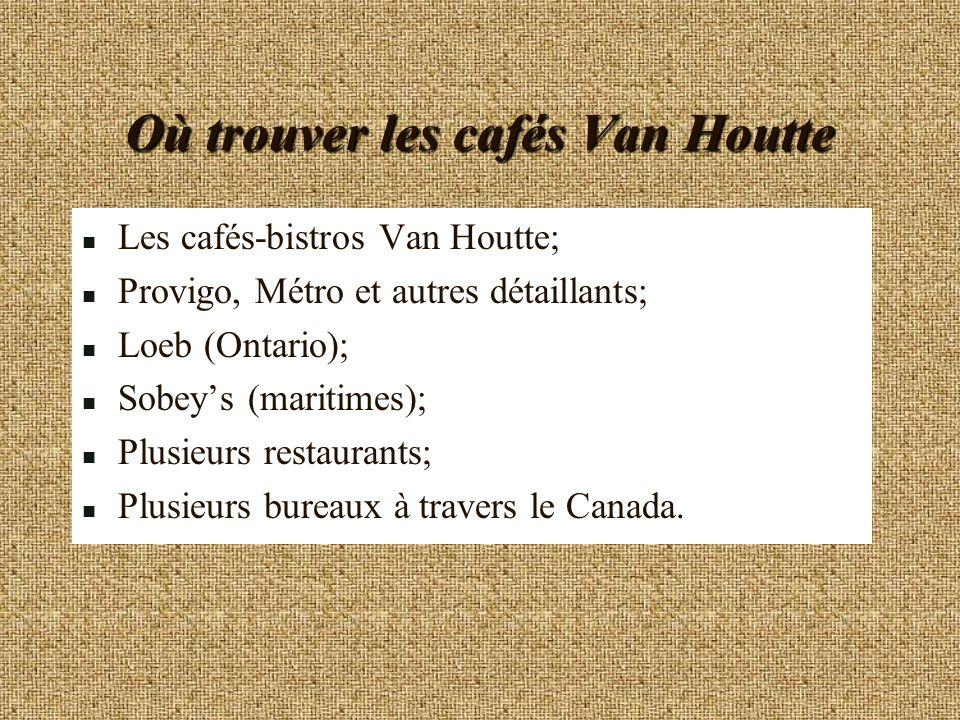 Où trouver les cafés Van Houtte