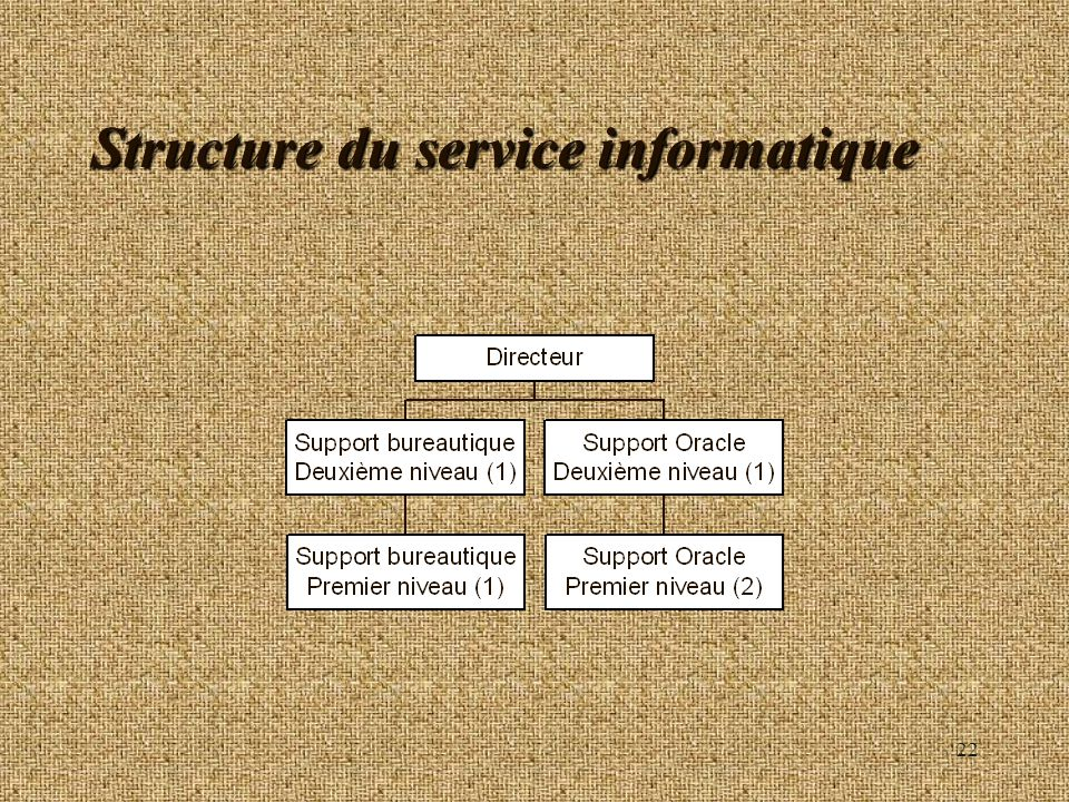 Structure du service informatique