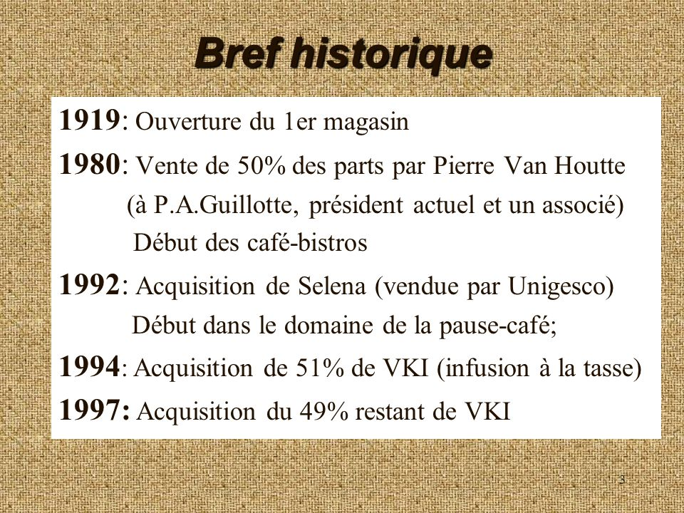 Bref historique 1919: Ouverture du 1er magasin