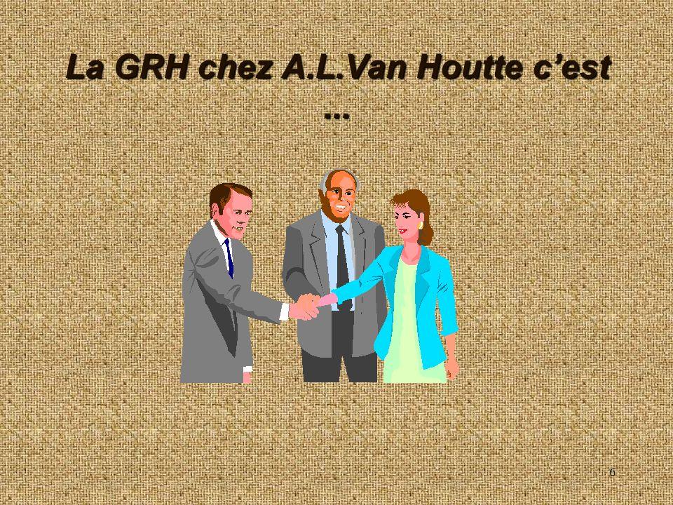 La GRH chez A.L.Van Houtte c'est ...
