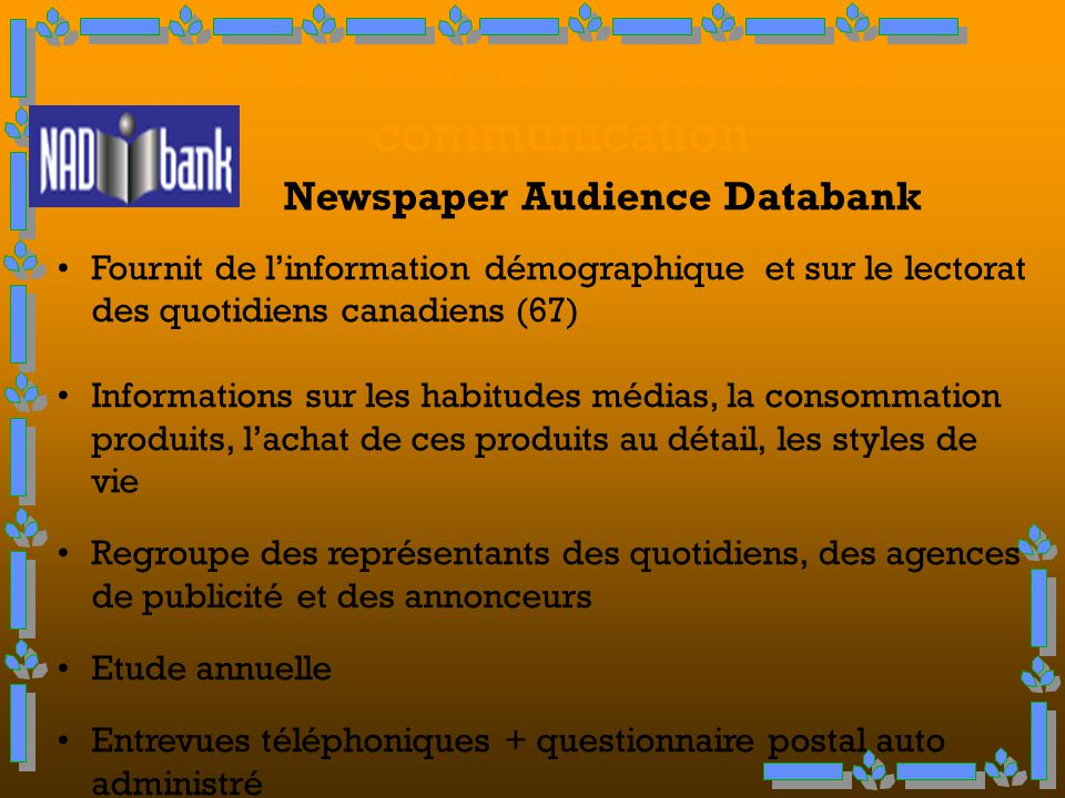 2. Les sources d'information, communication