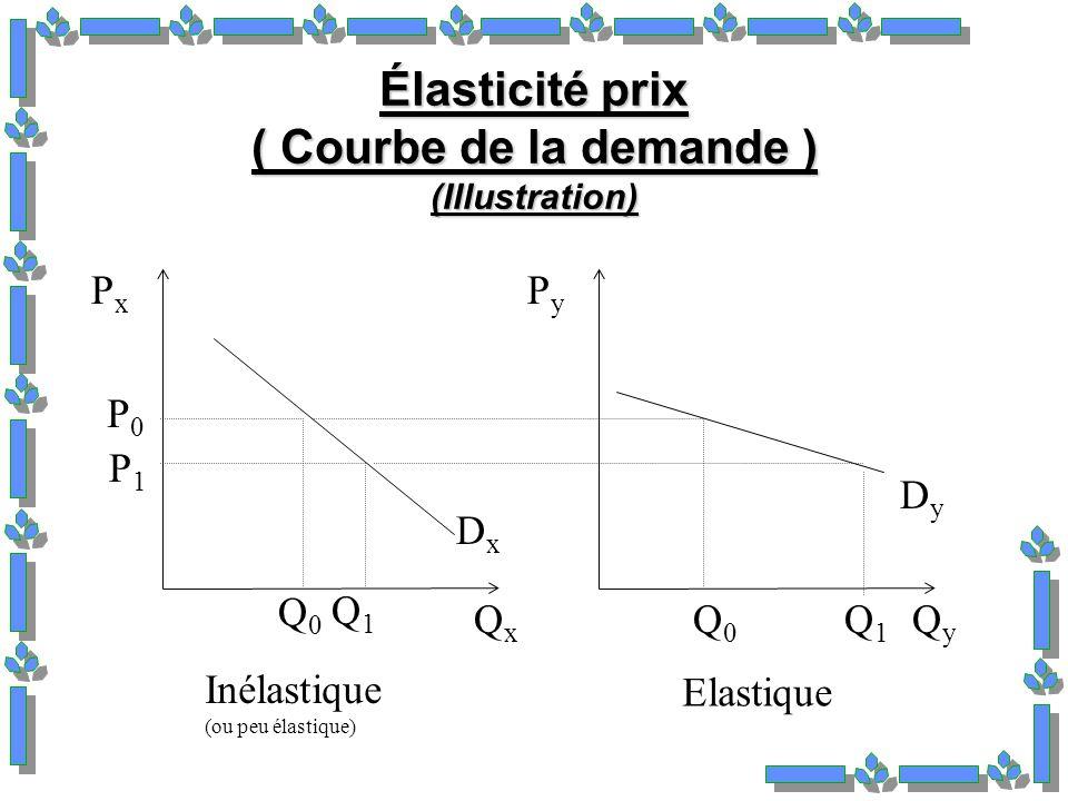 Élasticité prix ( Courbe de la demande ) (Illustration)