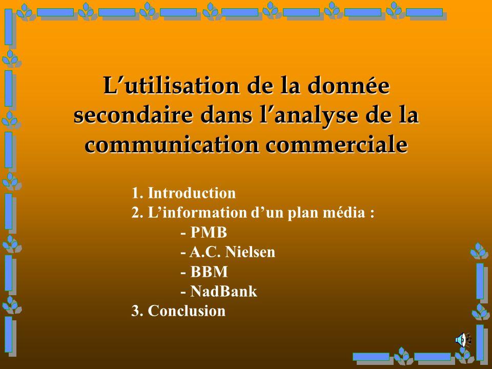 L'utilisation de la donnée secondaire dans l'analyse de la communication commerciale