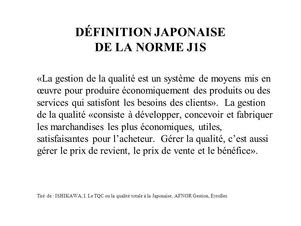 DÉFINITION JAPONAISE DE LA NORME J1S