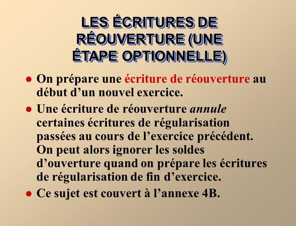 LES ÉCRITURES DE RÉOUVERTURE (UNE ÉTAPE OPTIONNELLE)