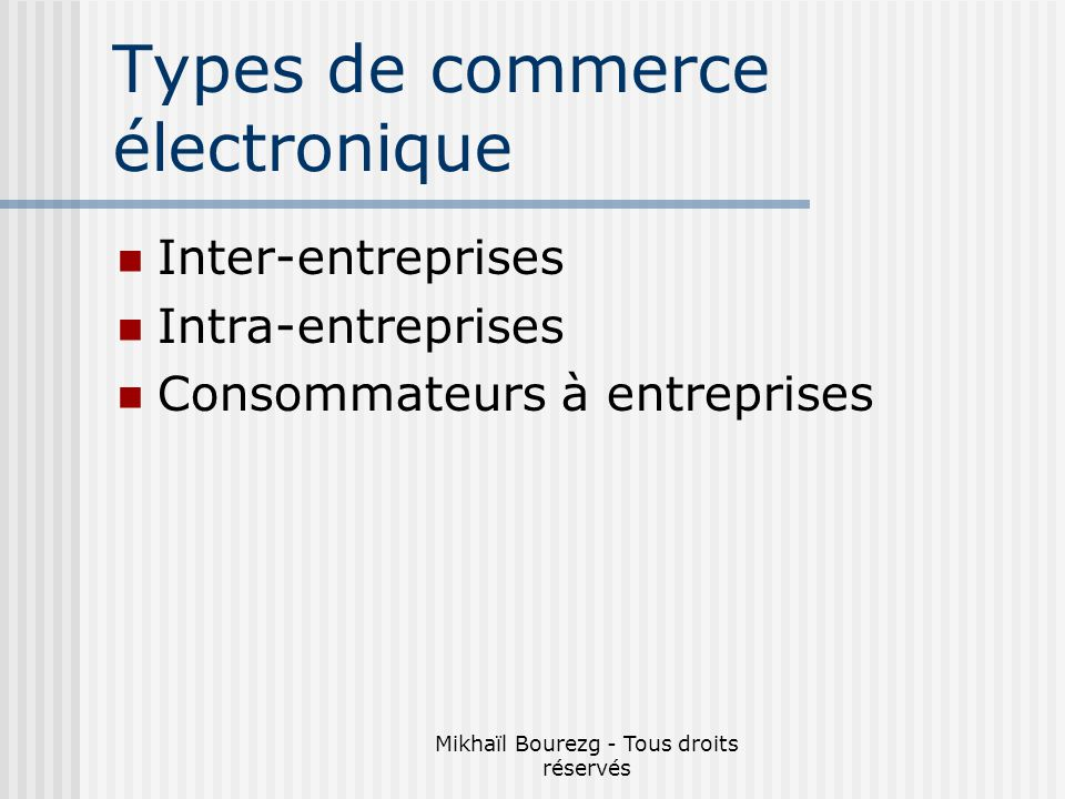 Types de commerce électronique