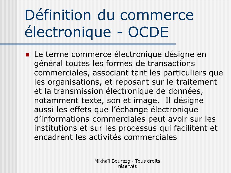 Définition du commerce électronique - OCDE