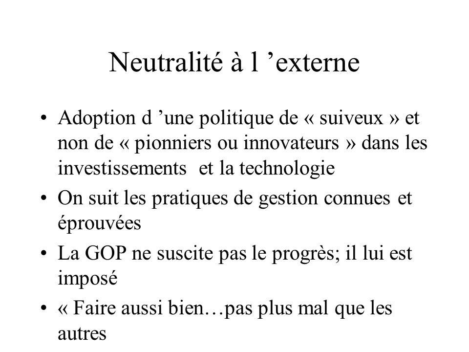 Neutralité à l 'externe