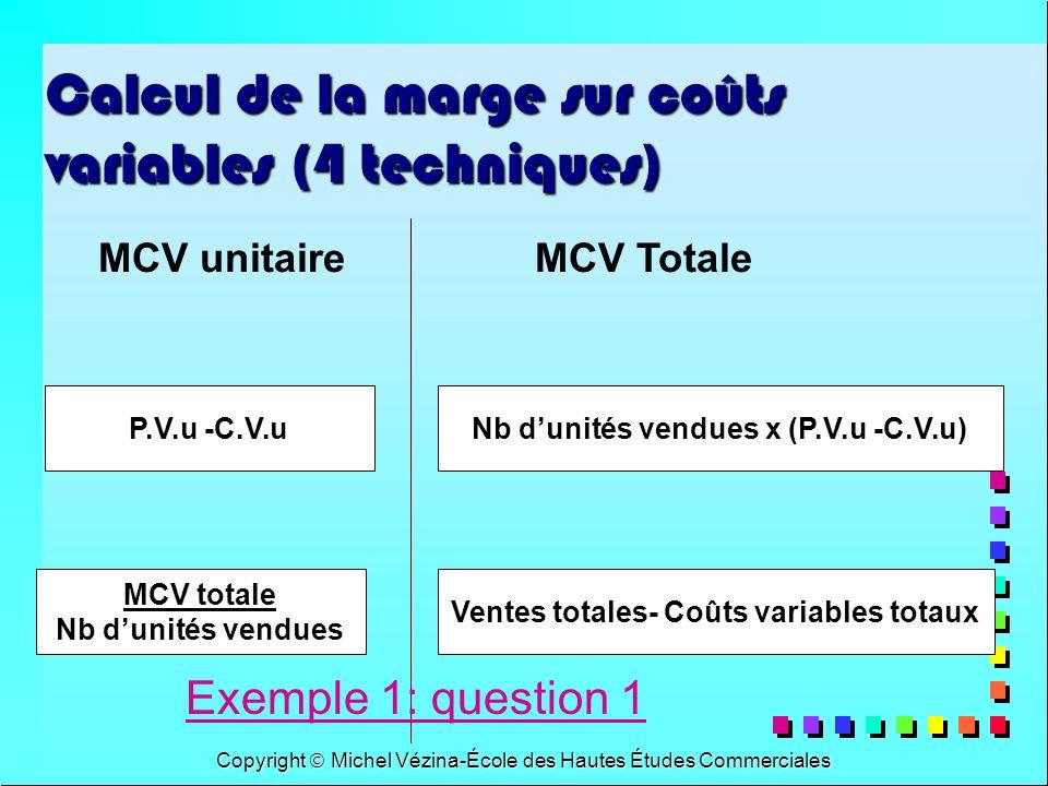 Calcul de la marge sur coûts variables (4 techniques)