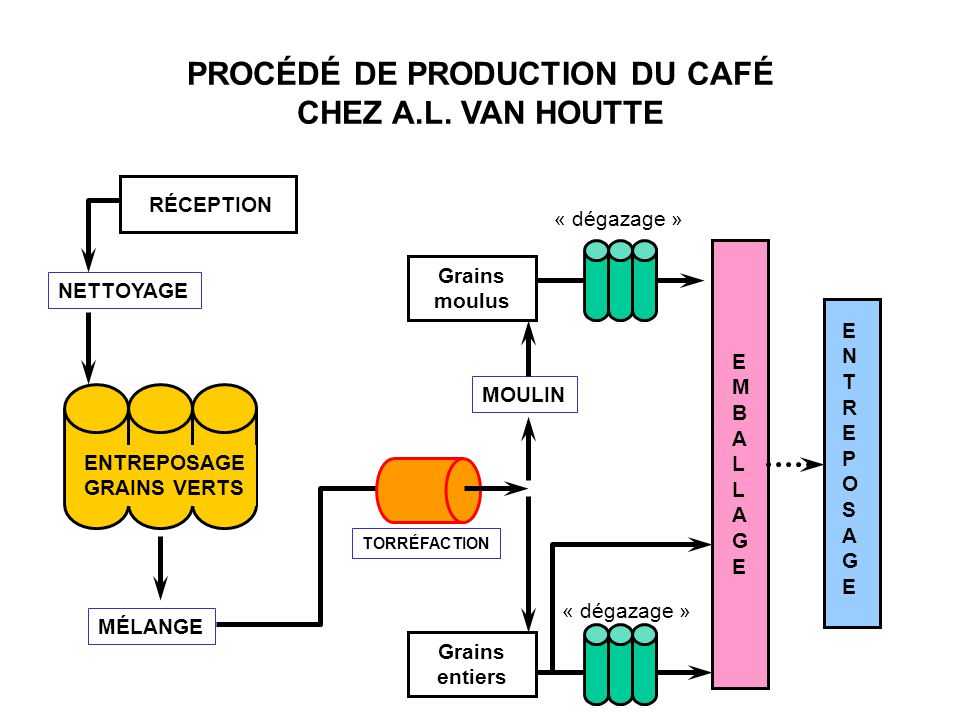 PROCÉDÉ DE PRODUCTION DU CAFÉ CHEZ A.L. VAN HOUTTE