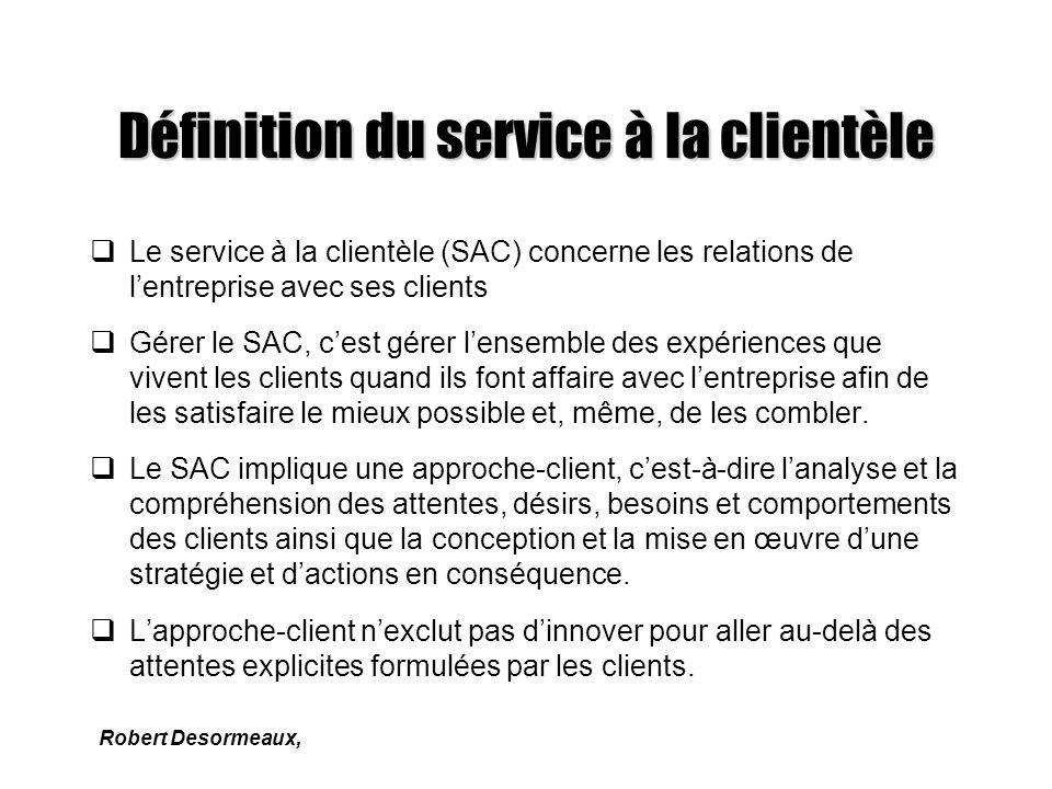 Définition du service à la clientèle