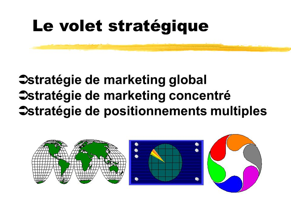 Le volet stratégique stratégie de marketing global