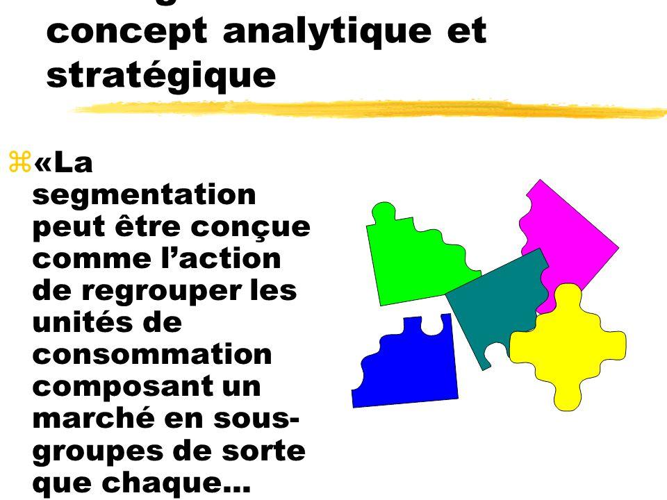 La segmentation : un concept analytique et stratégique