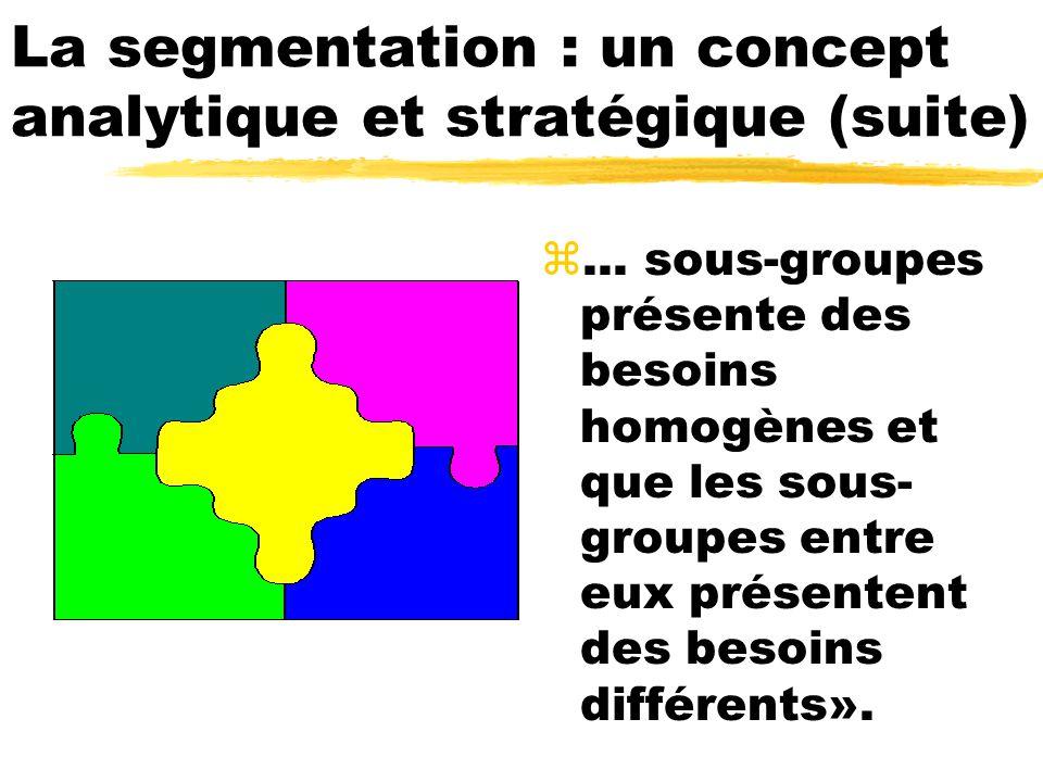La segmentation : un concept analytique et stratégique (suite)