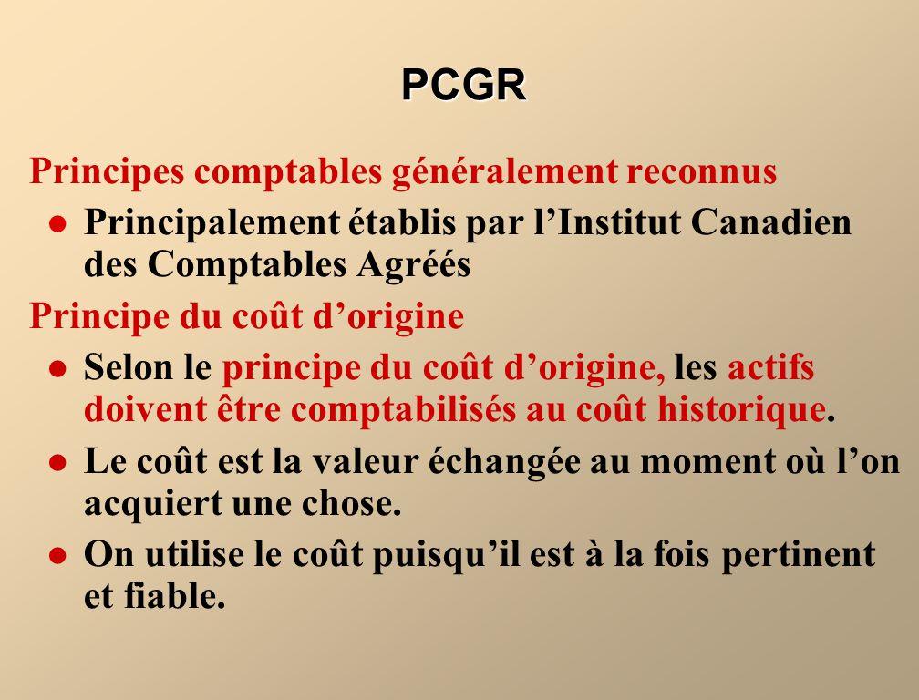 PCGR Principes comptables généralement reconnus