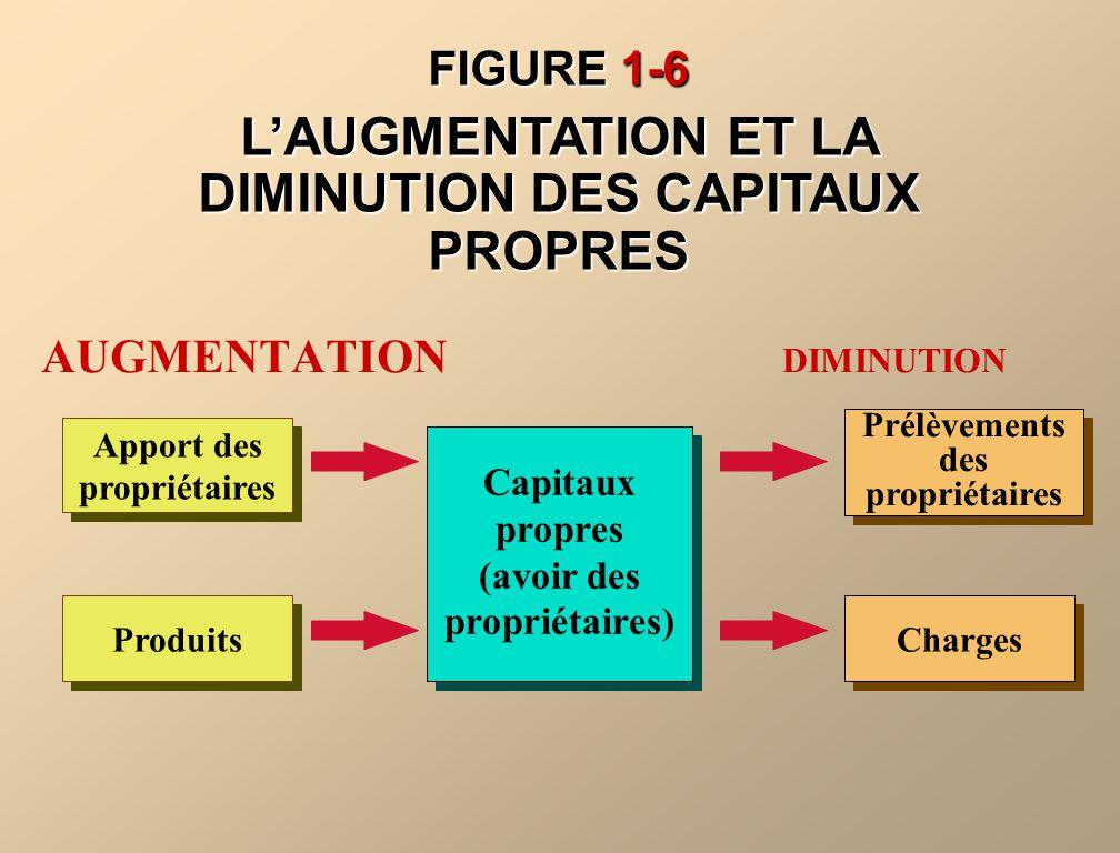 L'AUGMENTATION ET LA DIMINUTION DES CAPITAUX PROPRES