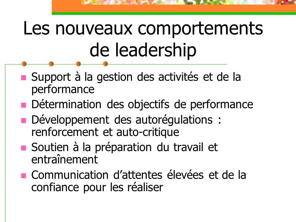 Les nouveaux comportements de leadership