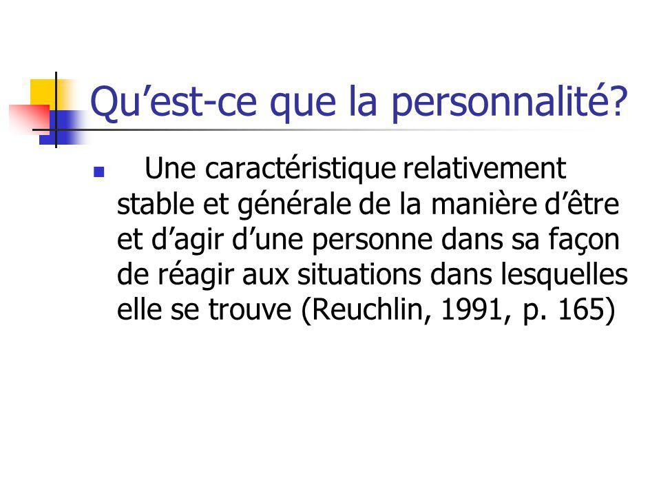 Qu'est-ce que la personnalité