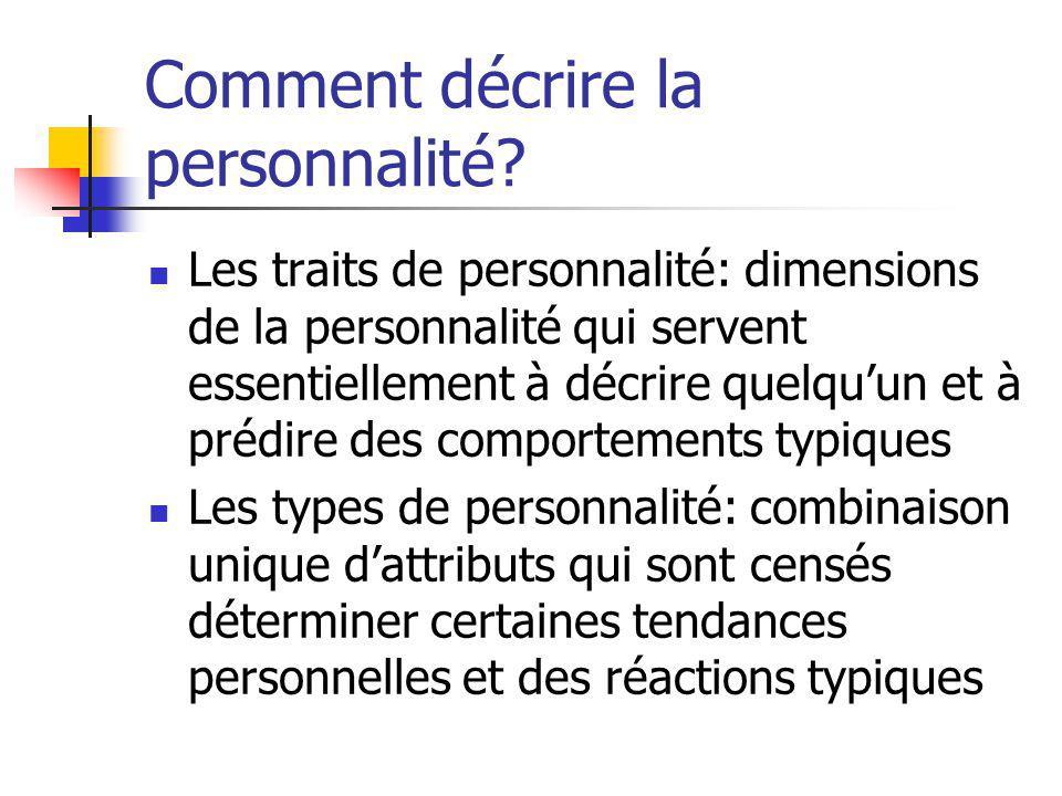 Comment décrire la personnalité