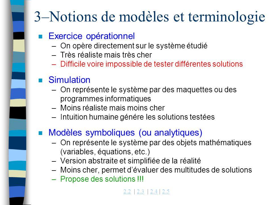 3–Notions de modèles et terminologie
