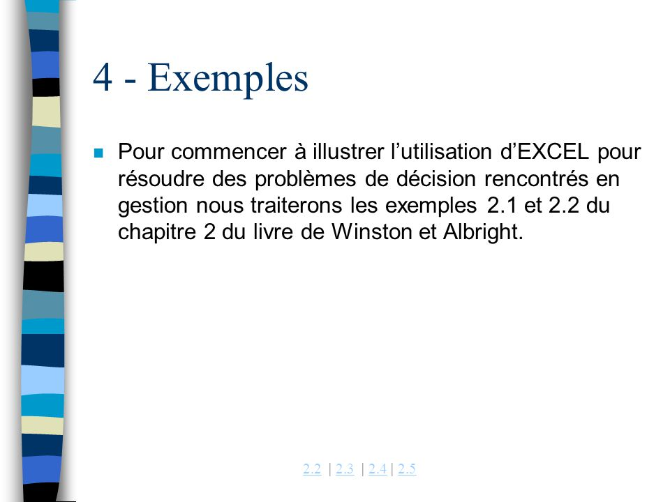 4 - Exemples