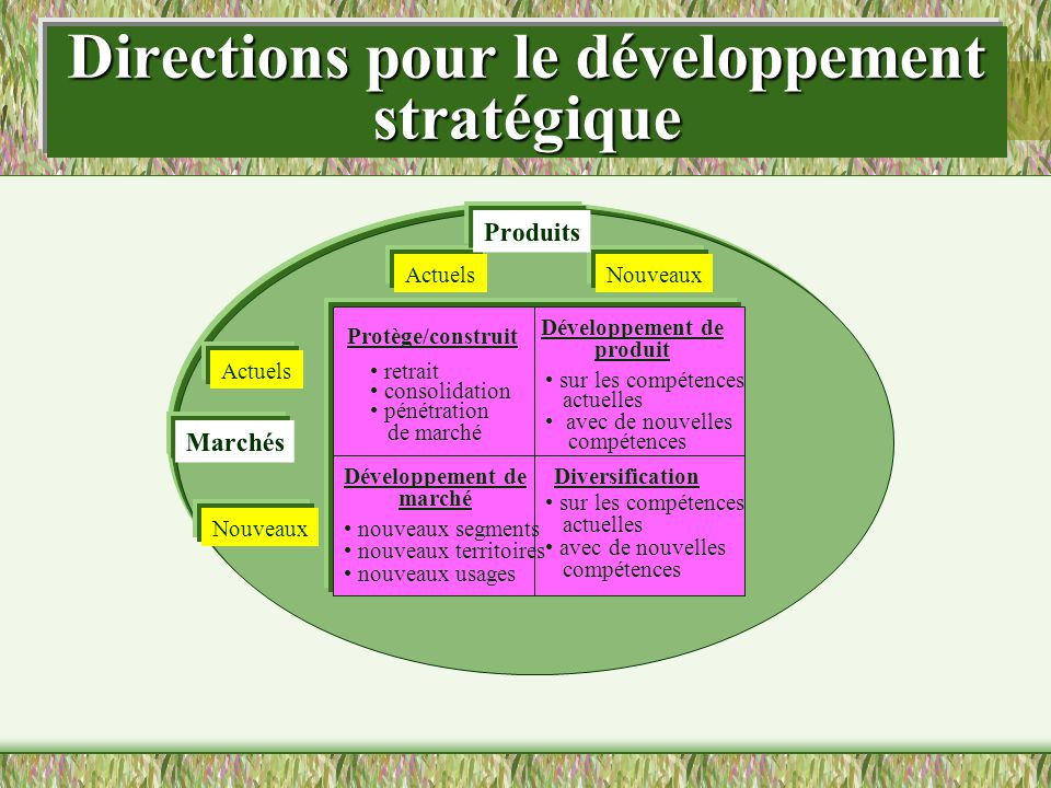 Directions pour le développement stratégique