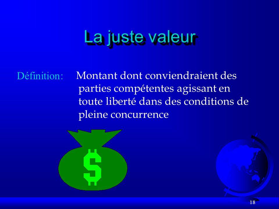La juste valeur Définition: