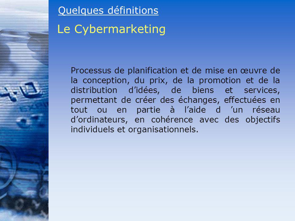 Le Cybermarketing Quelques définitions