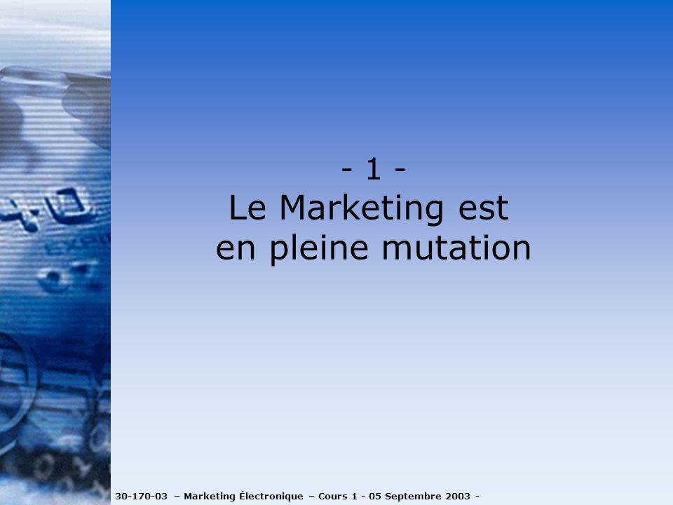 Le Marketing est en pleine mutation - 1 -