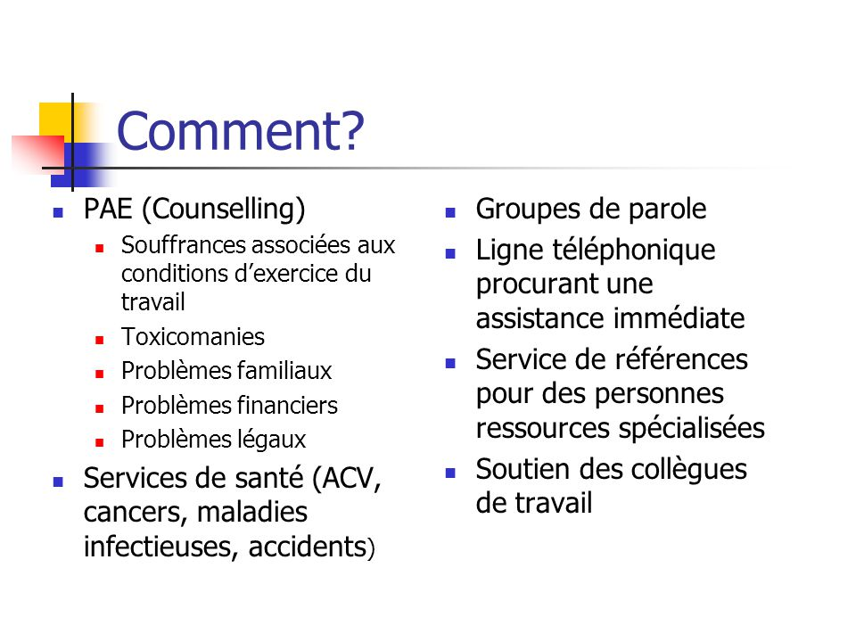 Comment PAE (Counselling)