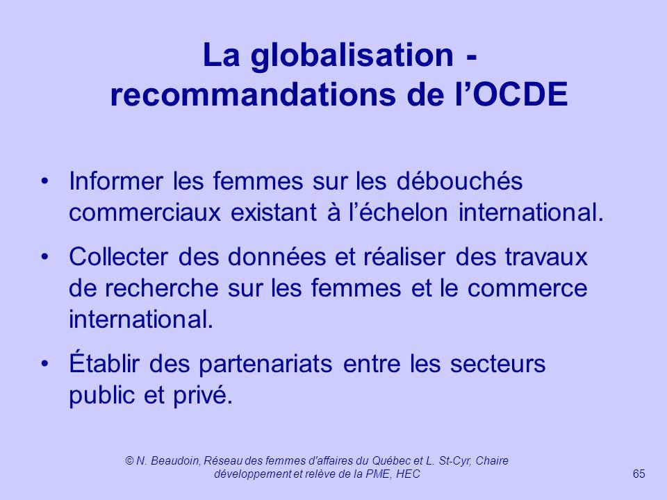 La globalisation - recommandations de l'OCDE